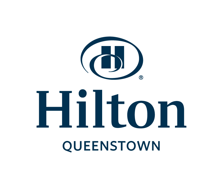 Hilton Queenstown logo stacked color rgb